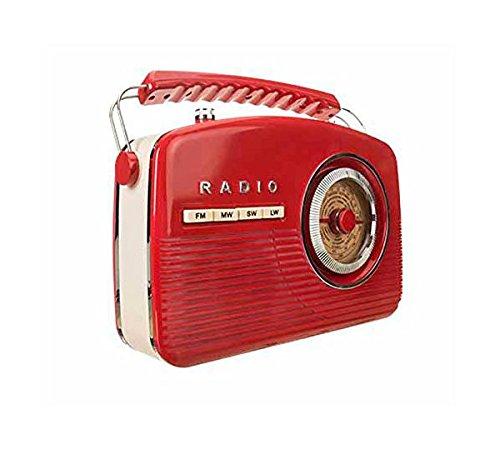 Camry CR1130R - Radio retro portátil, color rojo