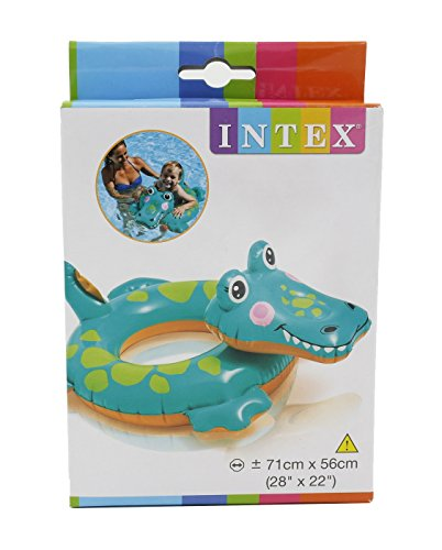 Intex Aufblasbares Schwimmbecken Animal Swim Ring Float Krokodil-Form