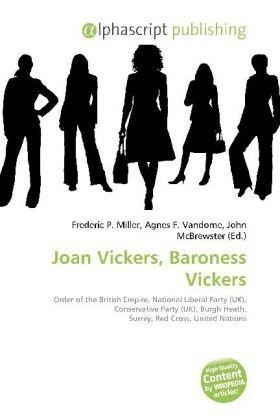 Joan Vickers, Baroness Vickers