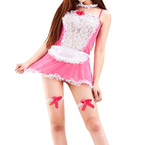 Jooffery Damen Bodystocking mehrfarbig hot pink