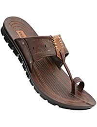 VKC Pride Men's Sandal (Chocolate, Size 8)