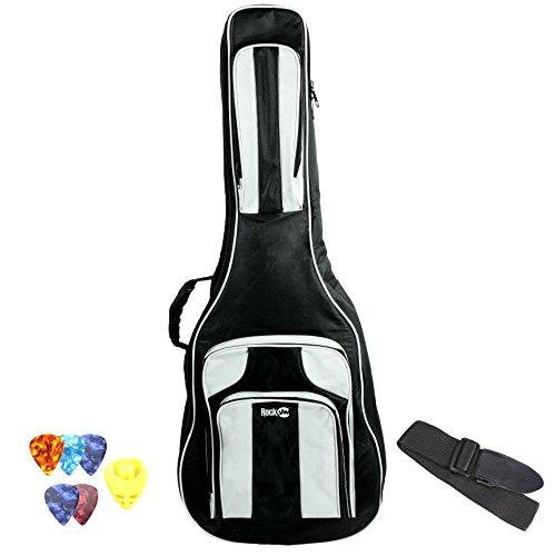 RockJam dgb-04Deluxe Gitarrentasche Set Akustische Gitarre Tasche