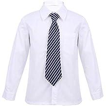 68d1c760ecd99 YiZYiF Camisa Blanca Niño Blusa de Algodón Manga Larga Uniforme Disfraces  De Escolar para Chico SZ
