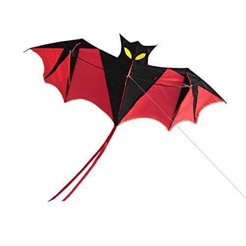 Lixada 180cm Red Bat Power Kite mit Griff und 30m Single Line Flying Kite für Kinder und Erwachsene Outdoor Beach Sports Fun