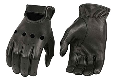 Milwaukee Leather Men's Deerskin Leather Unlined Driving Gloves SH868 (XL) by Shaf International