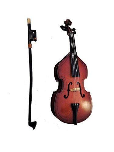 Melody Jane Puppenhaus Kontrabass & Schleife Miniatur Musik Zimmer Instrument 1:12