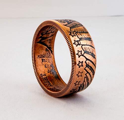 Handgefertigter indischer Schmuck aus Kupfer, Siegelring, handgefertigter Schmuck, Verlobungsring, Ehering, Band, Geschenk, Unisex