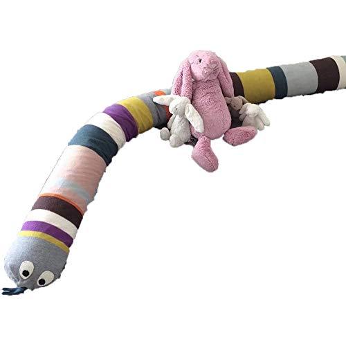 Vivaio culla paraurti serpente, traspirabilità cuscino cuscino biancheria da letto rotolo soft riduttore per lettini-a 180cm(71inch)