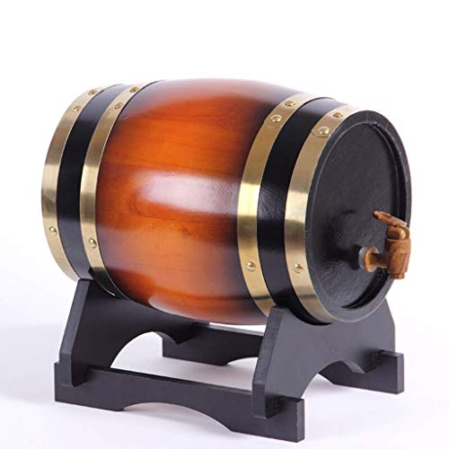 Oak Barrel Barril De Vino, Barricas De Roble De Cubas, Barriles De Vino Tinto Seco 3L5L10L20L Wine, Beer, Cider, Whiskey (Color : E, Tamaño : 3L)