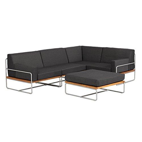 OUTLIV. Loungemöbel Outdoor Largo Gartenlounge 5-Teilig Design Gartenmöbel Stahl/Akazie mit...