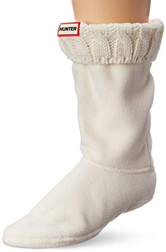Hunter Damen-Socken für Gummistiefel, kurz, 6Nähte Gr. L, natürliches weiß