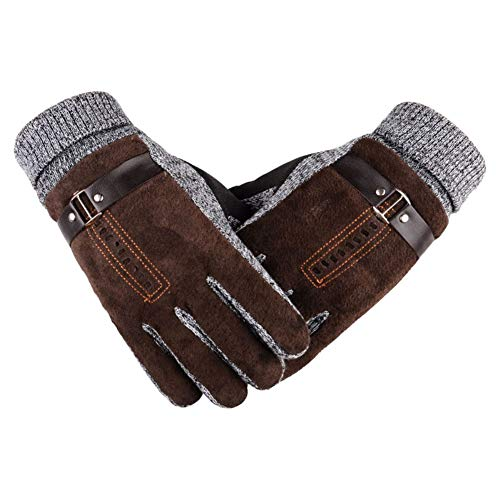 Qlans Windproof Thermal Gloves, Radhandschuhe für kaltes Wetter Sporthandschuhe für Fußball, Rugby, Laufen, Mountainbiken, Radfahren