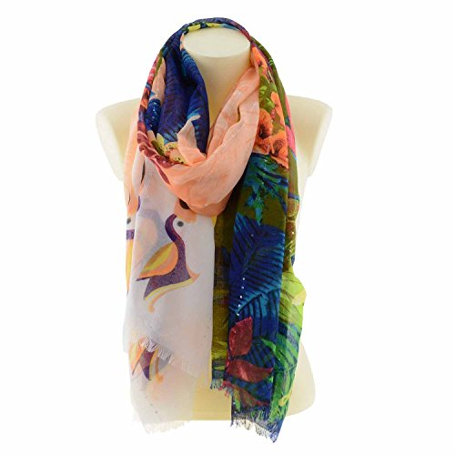 Foulard Rectangle Tropical Fly Desigual