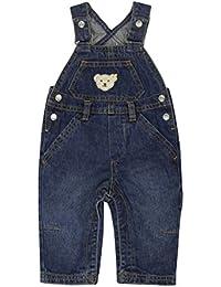 Steiff Unisex - Baby Latzhose 0006832 Blau (Blue Denim) 86 (Herstellergröße: 86)