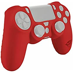Trust Gaming GXT 744 - Funda de Silicona para Mando PS4, Color Rojo