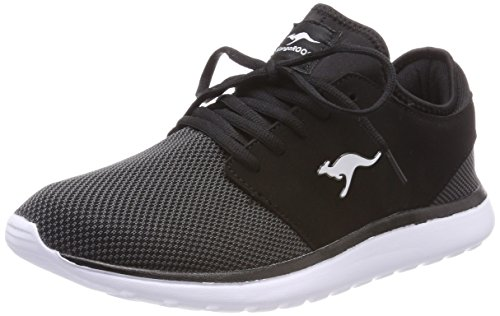 KangaROOS Sumpy, Baskets Mixte Adulte Schwarz (Jet Black/Steel Grey)