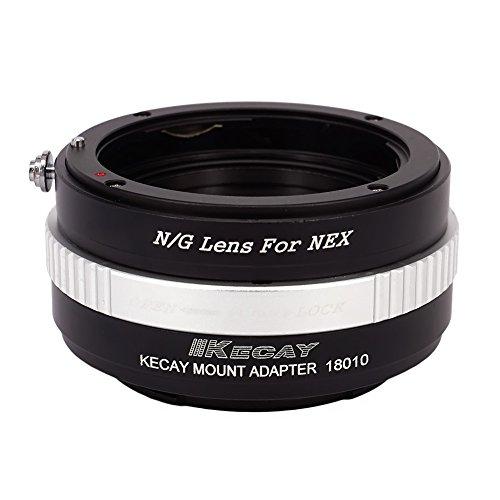KECAY® Adaptador de Lente, Nikon G-type DX AFS Lente Adaptador a Sony Alpha NEX E-Mount Cámara, Sony NEX-3, NEX-3C, NEX-5, NEX-5C, NEX-5N, NEX-5R, NEX-6, NEX-7, NEX-F3, NEX-VG10, VG20
