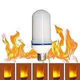 junkai Flamme Glühbirne, LED flackernde Flamme Glühbirne 3 Modi Flamme Emulation Atmosphäre dekorative Licht für Bar, Haus, Festival, Party, Hochzeit