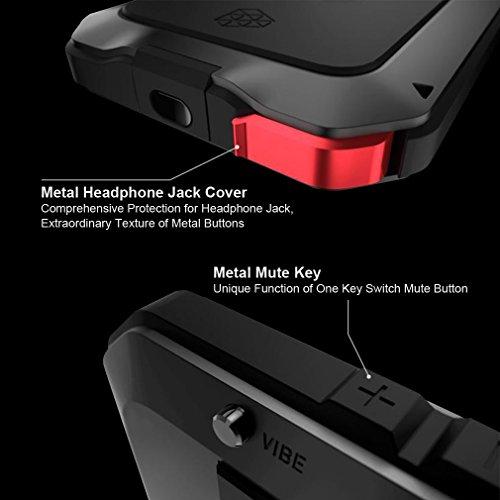 Aursen protettiva in metallo antiurto H F ¹ ¹ Ile Cover Custodia impermeabile(Non può essere impregnato in acqua) per iPhone 5, 5s, 6, nero, iPhone 5/5S nero