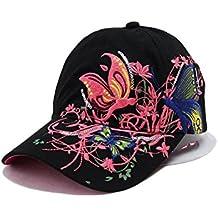 Hosaire 1x Sombreros del Sol Bordado de la Mariposa para Mujer Gorras de Visera  UPF 50 8beef3ed99b
