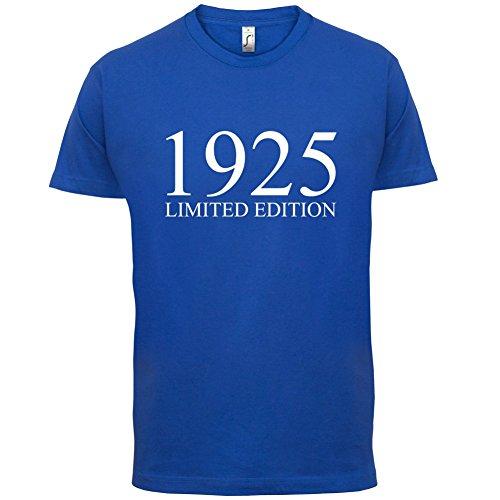 1925 Limierte Auflage / Limited Edition - 92. Geburtstag - Herren T-Shirt - 13 Farben Royalblau