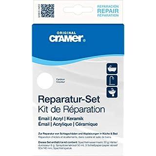 Cramer 16002_2 Sanitär Reparatur-Set für Keramik, Email und Acryl, reinweiß