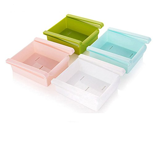 Romdink Küche Kühlschrank Gefrierschrank Space Saver Organizer Lagerregal Regal Halter Schublade -