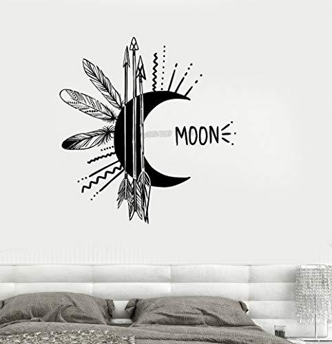 mlpnko Nuovo Design Art Decalcomania in Vinile Luna Freccia Camera da Letto Soggiorno Decorazione Talismano Wall Sticker 100x108cm