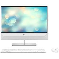 HP Pavilion 24-xa0017nf Ordinateur Tout-en-un 23,8'' FHD Blanc (Intel Core i5, 8 Go de RAM, 1 To de Stockage + 256 Go de SSD, Windows 10)