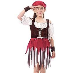 Disfraz de pirata de alta mar para niña, varias tallas.