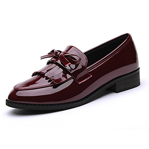 laikajindun-delicate-womens-artificial-leather-round-mouth-bowknot-loafers