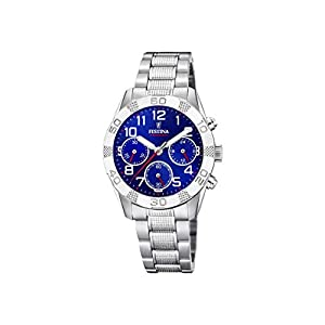 Festina Jungen Chronograph Quarz Uhr mit Edelstahl Armband F20345/2
