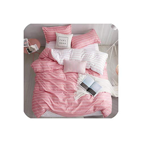 Burgess Trevelyan 3/4 Stück Tröster Bettwäsche-Sets geometrisches Muster Bettwäsche Baumwolle/Polyester Bettbezug Bettlaken Kissen- Bezug-Sets, Farbe 9, Twin 4 Stück -