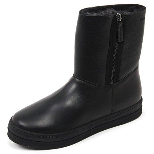 C2238 stivaletto donna UNISA CORK scarpa nero shoe boot woman Nero