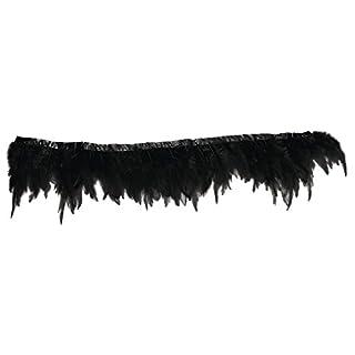 Rayher 8508001Bordure en plumes Noir 50cm