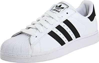adidas Originals Men's Superstar ll Sneaker,White/Black/White,4.5 D US