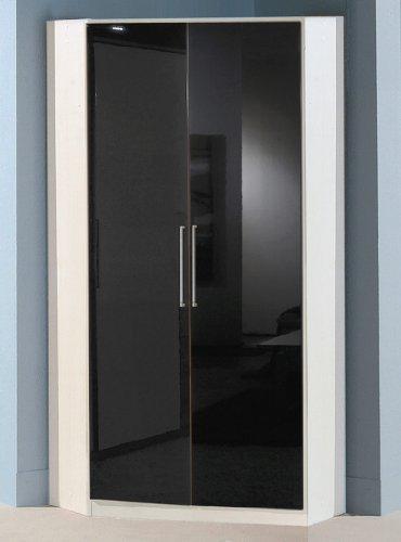 eckschrank mit spiegel Wimex Kleiderschrank/ Eckschrank Gamma, (B/H/T) 95 x 198 x 95 cm, Schwarz