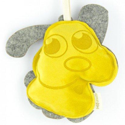 Profumotti cane giallo - profumatore deodorante per casa e auto made in italy- passion fruit & melograno