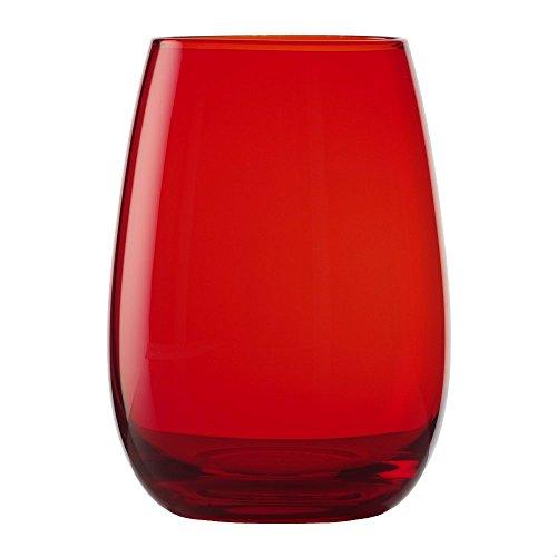 Lot de 6 Verres Rouges (465 ML) - Passent au Lave-Vaisselle - Disponibles dans Plusieurs Couleurs, de Stölzle Lausitz