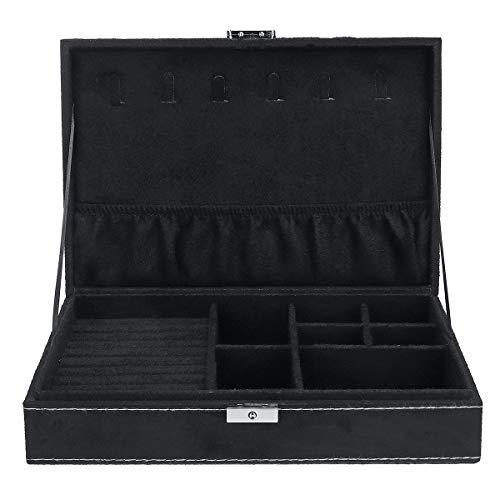 DyNamic Schmuck Case Ring Ohrring Halskette Trinket Organisator Display Storage Box - Das Schwarz