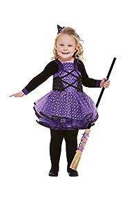 Smiffys 61127T2 - Disfraz de bruja para niños de 3 a 4 años, color morado