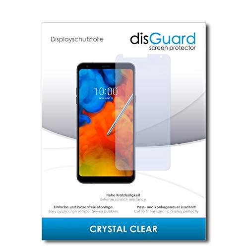 disGuard® Bildschirmschutzfolie [Crystal Clear] kompatibel mit LG Q Stylus + [2 Stück] Kristallklar, Transparent, Unsichtbar, Extrem Kratzfest, Anti-Fingerabdruck - Panzerglas Folie, Schutzfolie