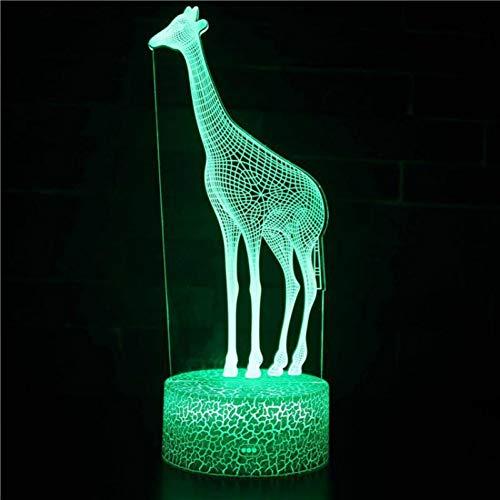 Aetd Elefantes 3D Lámpara Led De Colores Decoraciones De Navidad Tablero De...