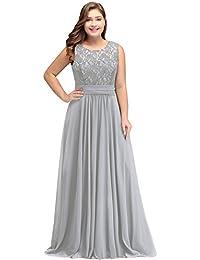 Misshow Abendkleider Elegant Spitzenkleid Chiffon Lang Abendkleid Elegant  Ball Abschlussballkleid 808168f4eb