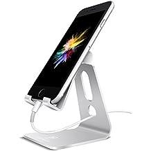 Supporto Telefono, Lamicall Dock iPhone : Supporto smartphone, Supporto Universale per HUAWEI iPhone 7 6 6s plus 5 5s, Samsung S3 S4 S5 S6 S7 Accessori, scrivania, altri Smartphone - Argento
