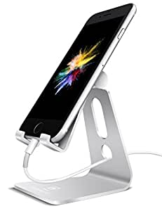 Supporto Telefono, Lamicall Dock iPhone : Multi-angolo Supporto Dock Stand per iPhone 7 6 6s plus 5 5s, Nintendo Switch, Huawei, Samsung S3 S4 S5 S6 S7 S8, Accessori, scrivania, altri Smartphones - Argento