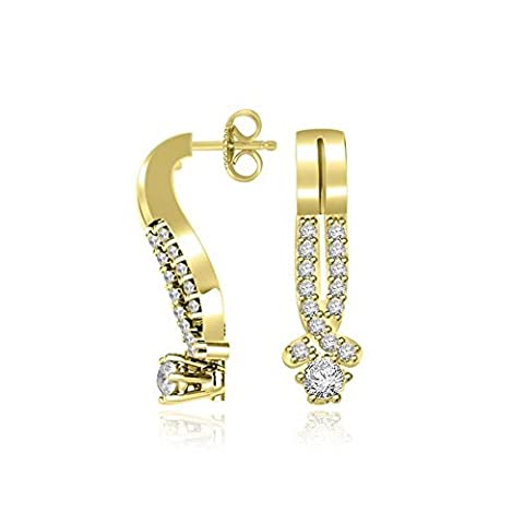 0.31ct G/SI1 Diamond Earrings for Women with Round Brilliant Diamonds in 18ct Yellow Gold