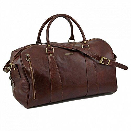 Tuscany Leather - TL Voyager - Borsa da viaggio in pelle - Misura grande Testa di Moro - TL141217/5 Testa di Moro