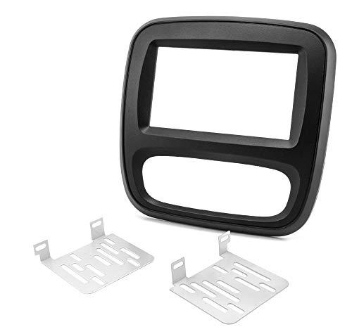 Watermark WM-6411 Radioblende für Renault Trafic 3 Opel Vivaro Doppel-DIN 2DIN schwarz