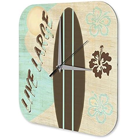 Orologio parete Divertimento Decorazione Lunga tavola da surf in diretta Plexiglas